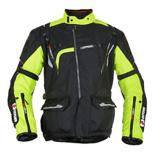 Oxford Montreal Mens Black / Fluo Motorcycle Mid-length Textile Jacket All Sizes