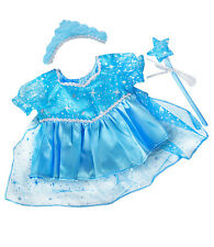 """Blue Snow Princess Gown / Dress / Outfit teddy clothes to fit 15"""" Build a Bear"""