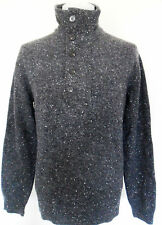 FCUK FRENCH CONNECTION Jumper Turtle Neck Knit Charcoal Sizes: Large
