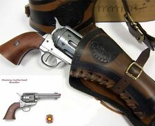 Authentic M1873 Fast Draw Colt 45 Peacemaker Cap Replica Gun & Holster Bullets