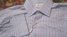 NWT BRIONI DRESS SHIRT $625 ITALY COtTON FRENCH CUFF FANCY YR ROUND SAKS 5 AVE