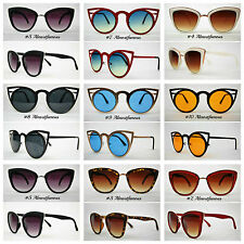 VTG 50s 60s Style womens Cat Eye Sunglasses Retro Rockabilly Glasses Vintage UK
