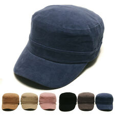 Unisex Mens Womens Corduroy Casual Military Cadet Cap Trucker Hats Baseball Cap