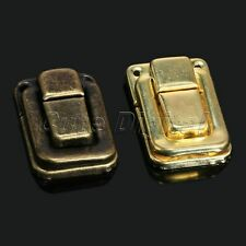 6Pcs Antique Decorative Jewelry Chest Case Gift Wine Wooden Box Hasp Latch Lock