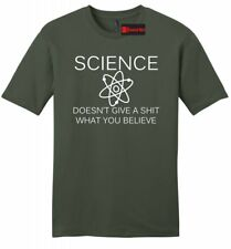 Science Doesnt Care What You Believe Funny Mens Soft Shirt Atheism T Shirt Z2