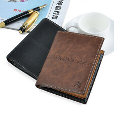New Mens PU Bifold ID Card Holder Wallet Billfold Handbag Slim Clutch Hot Sale