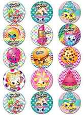 SHOPKINS V1 EDIBLE WAFER PAPER TOPPERS CUPCAKE CAKE MUFFIN FAIRY BUNS POP CAKES