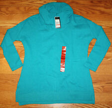 NWT Womens MARC NEW YORK Azure Blue Cowl Neck LS Long Sleeve Sweater S M L