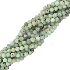 "Sesame Jasper Gemstone Spacer Loose Round Beads 15"" Strand Jewelry Making DIY"