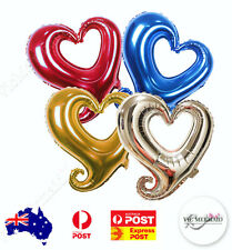 Hollow Heart Foil Balloons Birthday Party Decorations Wedding Hens Night 18""
