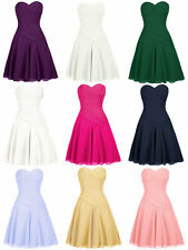 Sweetheart Short Chiffon Bridesmaid Dresses Party Cocktail Homecoming Gowns E611