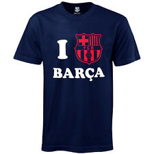 FC Barcelona Official Football Soccer Gift 'I Love Barca' Mens T-Shirt Navy
