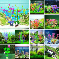 Artificial Colorful Grass Plastic Aquarium Plants Fish Tank Ornaments Decoration