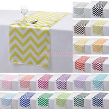 "1/5/10 PCS 14""x108"" Satin Chevron Table Runner Cloth for Wedding Party Decor New"