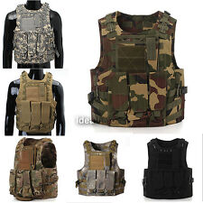 Tactical Military Vest SWAT Police Airsoft Molle Combat Assault Plate Carrier