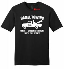 Camel Towing Funny Mens Soft Shirt Adult Humor Rude Truck Tow Sex Tee Z2