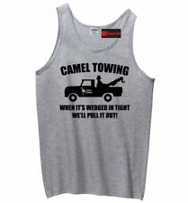 Camel Towing Funny Mens Tank Top Adult Humor Rude Truck Tow Sex Z3
