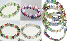 Beads Fashion Crystal Bracelet Faceted Multicolor Loose Woman Stretch Bangle