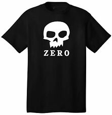 Zero Skull Logo Custom T-Shirt Short Sleeve Skater Skateboarding Gear Cool Hip