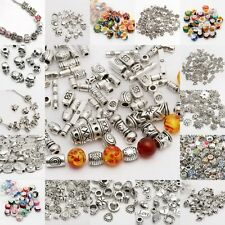 Wholesale Mixed Tibet Silver Beads Spacer For Jewelry DIY European Bracelet
