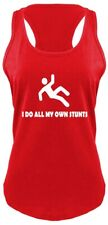 I Do All My Own Stunts Funny Ladies Racerback Tank Top Cute Gift Clumsy Klutz Z6