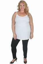 New Plus Size White Cotton Camisole | Tank | Singlet