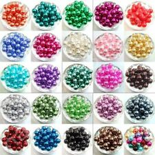 100Pcs Czech Glass Faux Pearl Round Spacer Charm Beads Jewelry Making 4-10mm New