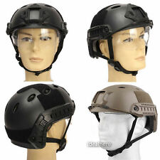 For Tactical Airsoft Paintball Climbing Protective SWAT Fast Helmet With Goggle