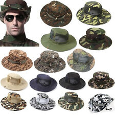 Unisex Bucket Hat Boonie Hunting Fishing Outdoor Cap Wide Brim Military Sun Camo