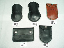 Recycled Motorcycle Boots Embroidered Eagle Leather Coin Pouch Change Purse  USA