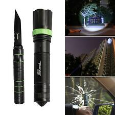 1pc New Tactical Knife Flashlight Cree LED Torch Focusable Lamp Survival Camping