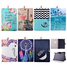 Painted Buckle Stand Leather Folio Flip Cover Case Back For Apple iPad Tablet PC