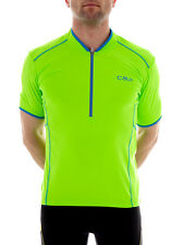 CMP Cycling jersey Bicycle jersey green neon elastic breathable Mesh