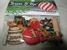 CHRISTMAS Craft Buttons from Dress It Up - snowflakes, reindeer, santa and more