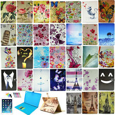 """Patterns PU Leather Stand Cover for Apple iPad Pro 9.7"""" Card Holder Wallet Case"""