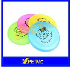 Pet Toy Dog Training Flying Saucer Frisbee Dish Plate Puppy Plastic