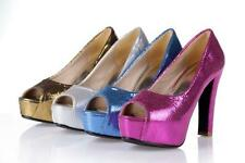 Women's High Heels Platform Pumps Sandals Peep Toes Dress Party Chic Shoes Size