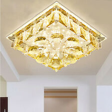 Modern 20cm 12W LED Crystal Aisle Lamp Ceiling Lights Chandeliers Fixture 9042HC