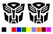 2pcs AUTOBOT TRANSFORMERS VINYL DECAL STICKER stickers car jdm racing V-501