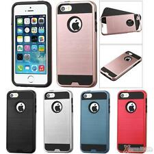 Brushed Metal Texture/Soft TPU Protect Case Cover For APPLE iPhone SE/5s/5