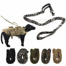 Outdoor Military Tactical Training Canine Dog Elastic Retractable Leash Strap