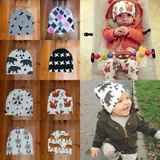 Stylish Baby Infant Toddler Kids Cotton Animals Printed Crochet Hat Beanie Caps