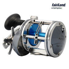 Aluminum Boat Fishing Reel 25kg Drag Power Drum Trolling Reel 6.2:1 4BB L&R hand