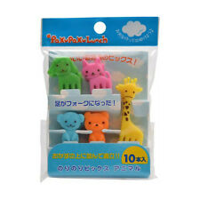 Japanese 10pc Bento Animal Kawaii Mini Fork Food Picks Lunch Box Accessories