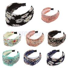 Wide Pleated Lace Aliceband Headband Hair Accessory School Work Party Hair Band