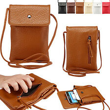 Universal Handbag Leather Phone Pocket Purse Shoulder Bag Pouch Cover Case Girls