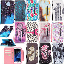 For iPhone Samsung Galaxy Phone Protective Stand Case PU Leather Wallet Cover