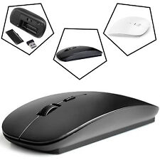 NEW SLIM MINI WIRELESS OPTICAL MOUSE MICE WITH USB RECEIVER FOR LAPTOP MAC PC