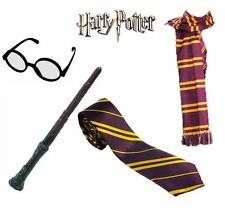 Harry Potter Fancy Dress Wand Glasses Tie Scarf Gryffindor Book Week