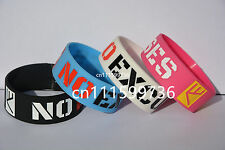 No Excuses Motivation Silicone Bracelet For Cancer Awareness or Sports